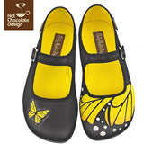 Butterfly Flats Shoes Hot Chocolate Design - Pimpos Australia