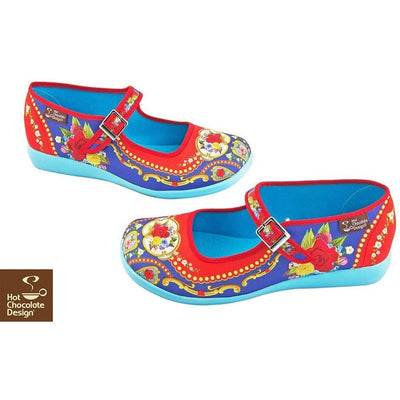 Carousel Flats Shoes Hot Chocolate Design - Pimpos Australia