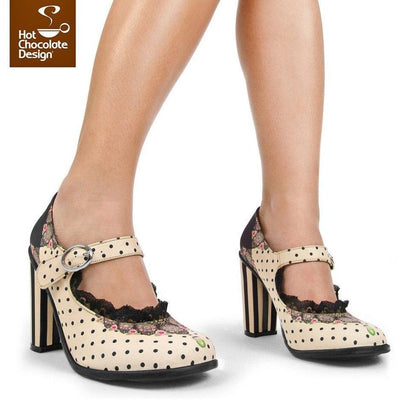 Doris Heels Shoes Hot Chocolate Design - Pimpos Australia
