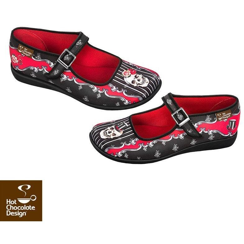 Eternal Love Flats Shoes Hot Chocolate Design - Pimpos Australia