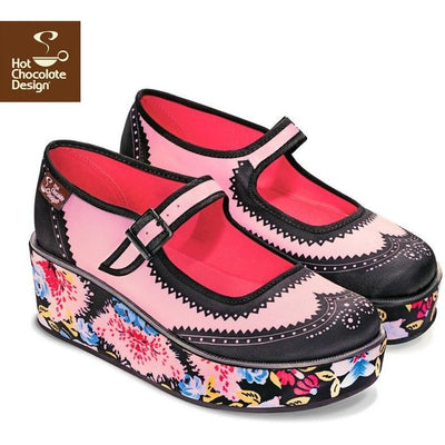 Habana Flowers Platforms Shoes Hot Chocolate Design - Pimpos Australia