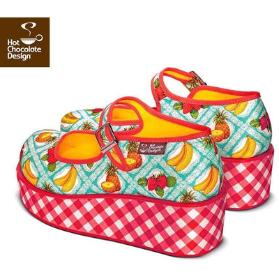 Kitsch Picnic Platforms Shoes Hot Chocolate Design - Pimpos Australia