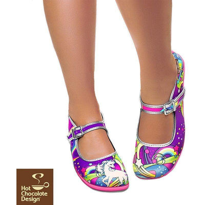 Lucy In The Sky Flats Shoes Hot Chocolate Design - Pimpos Australia