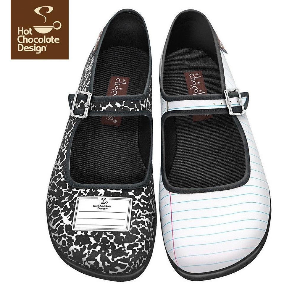 Notebook Flats Shoes Hot Chocolate Design - Pimpos Australia