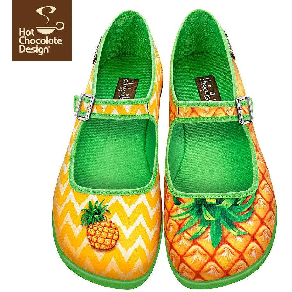 Pineapple Flats Shoes Hot Chocolate Design - Pimpos Australia