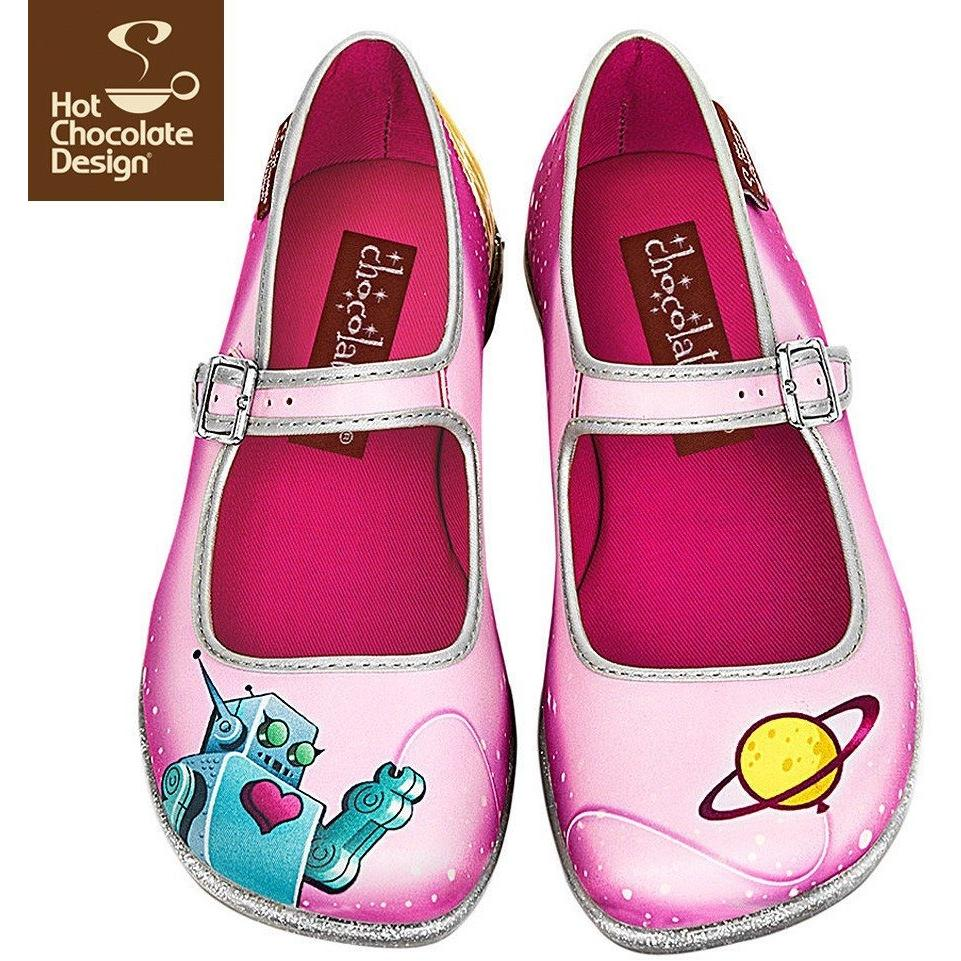 Space Flats Shoes Hot Chocolate Design - Pimpos Australia
