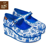 Toiles De Jouy Platforms Shoes Hot Chocolate Design - Pimpos Australia