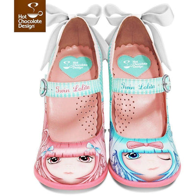 Twin Lolita Heels Shoes Hot Chocolate Design - Pimpos Australia