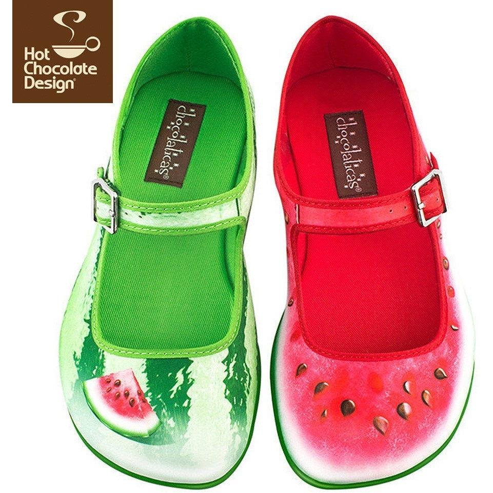 Watermelon Flats Shoes Hot Chocolate Design - Pimpos Australia