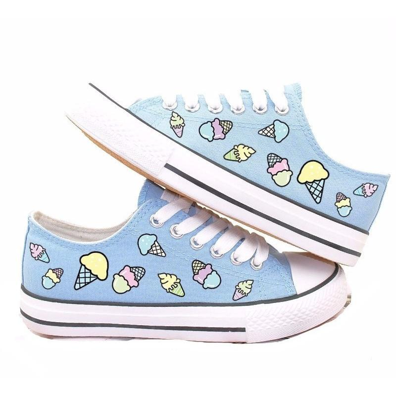 """The Ice Cream Cuties"" Canvas Shoes"