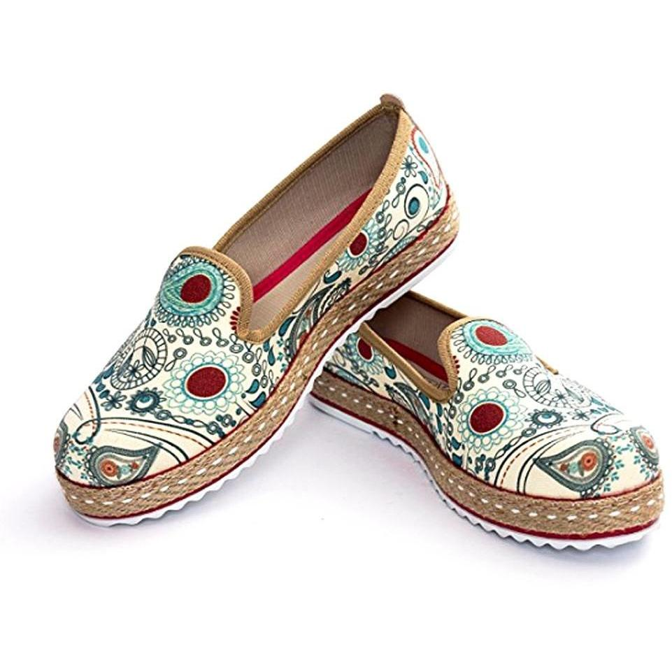 ''Aqua Paisley Medallions Slip-On Espadrille'' Shoes