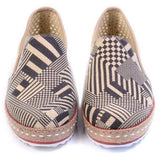 Black Geoprint Slip-On Espadrille