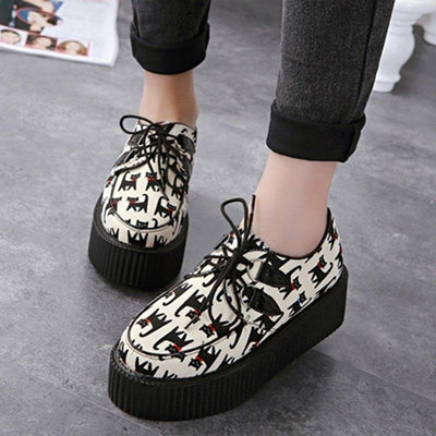 Cat Wedges High Platform Creepers women platforms Pimpos Australia - Pimpos Australia