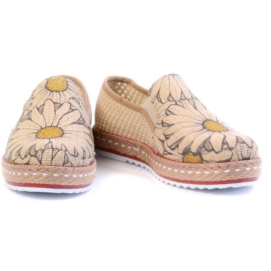 Women Shoes - Sunflower Daisy Slip-On Espadrille
