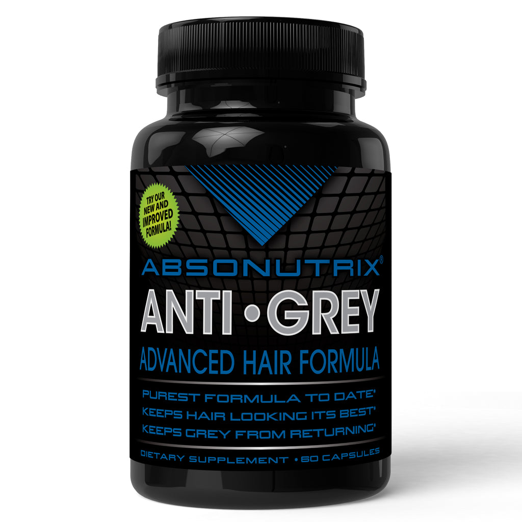 Absonutrix Anti Grey Pure 60 capsules with enzyme catalase with Saw Palmetto promote and enhance original hair color