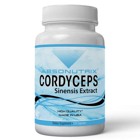 Absonutrix Cordyceps Sinensis Extract 1000mg Antioxidant 120 Vegetarian Capsules Helps Boost Energy  Increase Stamina, Immunity and Heart Health Made in USA