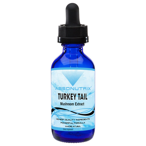 Absonutrix Turkey Tail Mushroom Extract Trametes versicolor 590 mg helps boost immunity antioxidant 4 Fl Oz Made in USA