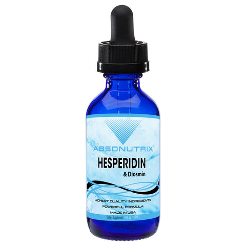 Absonutrix Hesperidin and Diosmin 593 mg 4 Fl Oz Helps Promote Better Heart and Vascular Health Made in USA
