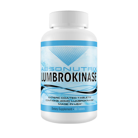 2 Absonutrix Lumbrokinase 40 mg  60 tablets per bottle