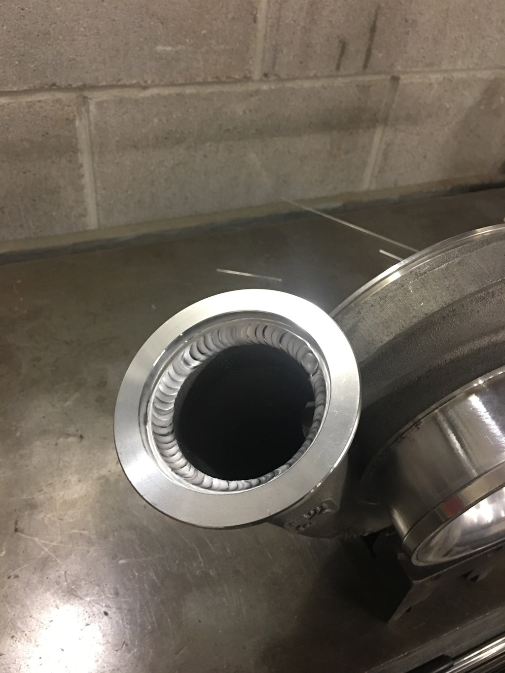S400 Race Cover V-Band Weld On Flange