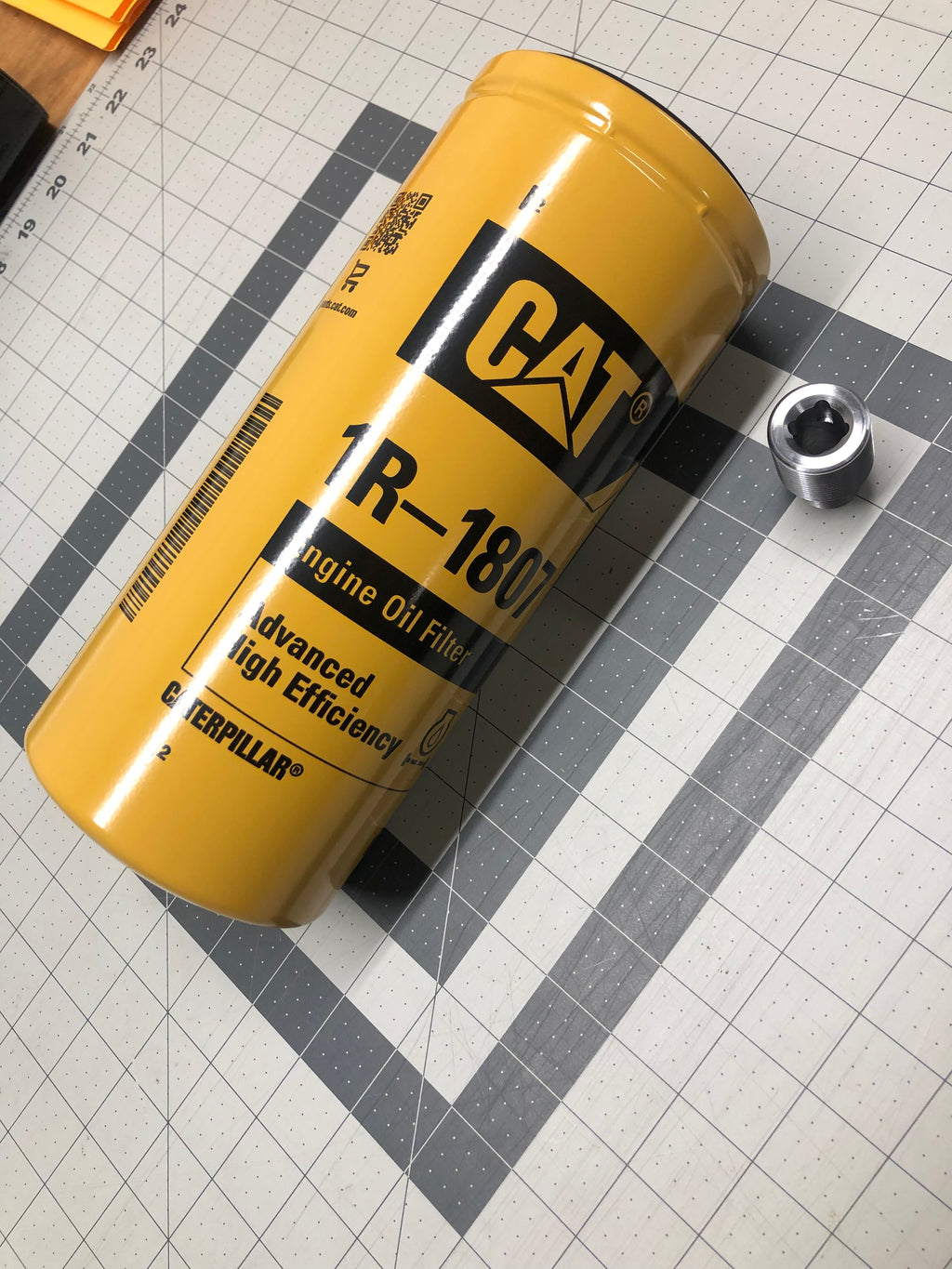 01-Current Duramax Cat Oil filter conversion kit