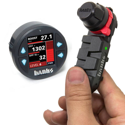 66592 Banks Derringer Tuner with ActiveSafety, includes iDash 1.8 for use with 2017-19 Chevy/GMC 2500/3500 6.6L L5P