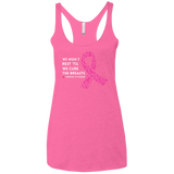 Breast Cancer Awareness Triblend Racerback Tank