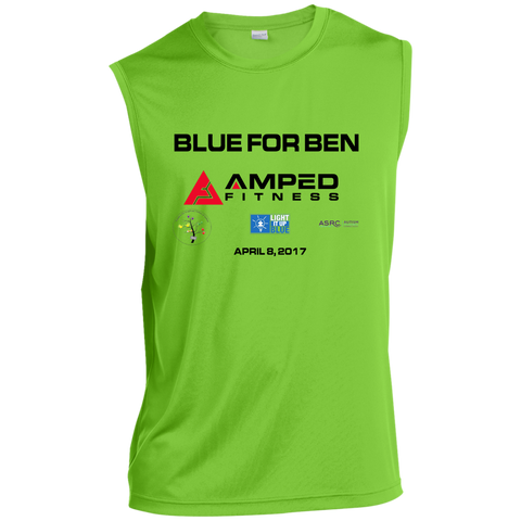 Blue for Ben Sleeveless Performance T Shirt