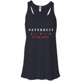 NeverQuit Finish Bella + Canvas Flowy Racerback Tank