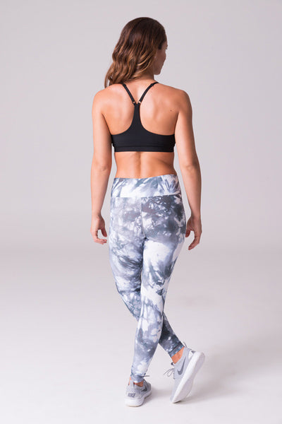 matching yoga clothing sets activewear black and white grey spandex polyester leggings capris sports bras made in canada
