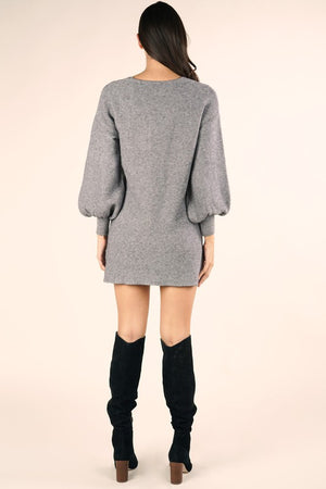 Eleanor Ribbed Sweater Dress