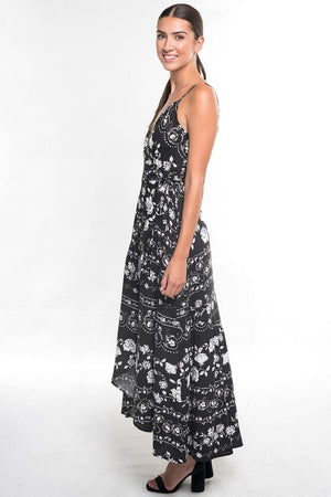 Addy's Famous Dress in Black Print
