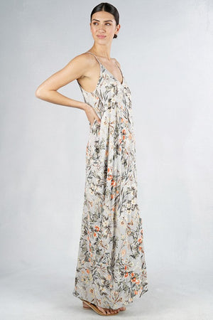 Embroidered Cocoon Maxi