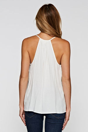 Love Stitch White Summer Tank