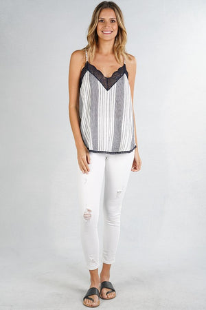 Date Night Cami w Stripes
