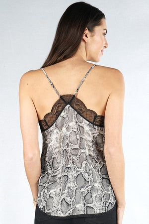 Date Night Cami Black Snake
