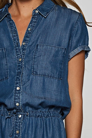 Button Down Denim Shirt Dress