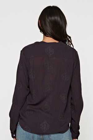 Black Embroidered Blouse (4th Sellout)