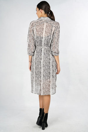 Chiffon Snake Print Dress