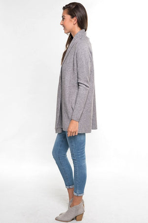 Ribbed Long Sleeve Cardigan