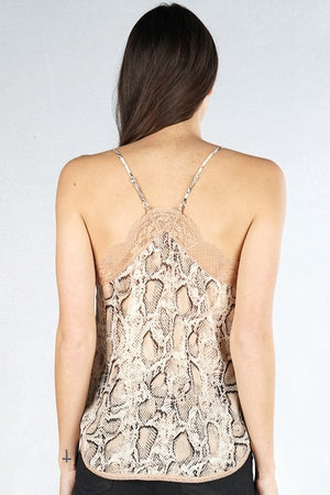 Snake Print Date Night Cami