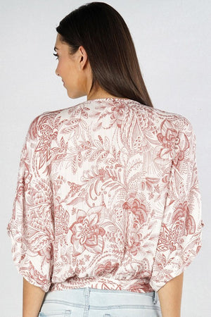 Hand Sketched Floral Blouse