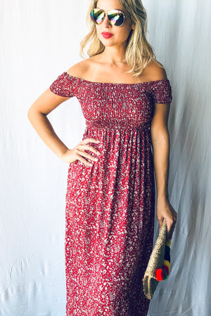 Floral Smocked OTS Dress