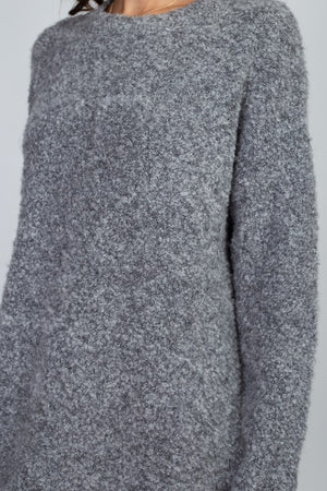 Sherpa Crew Neck Sweater Dress