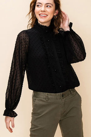 Mock Neck Blouse