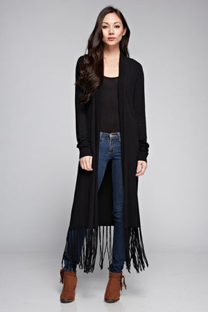Fringed Open Front Duster