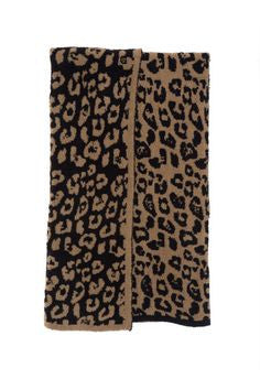 Barefoot Dreams CozyChic Into the Wild Throw Camel/Black