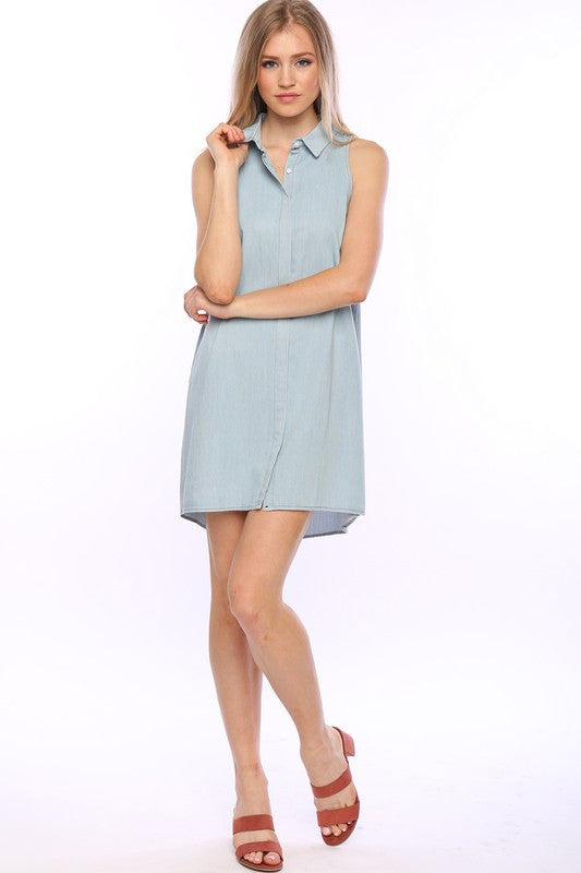 Sleeveless Denim Dress