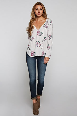 Love Stitch Floral Blouse