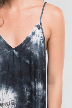 Black/White Tie Dye Maxi Dress